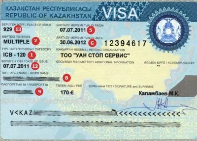 Visum Kasachstan